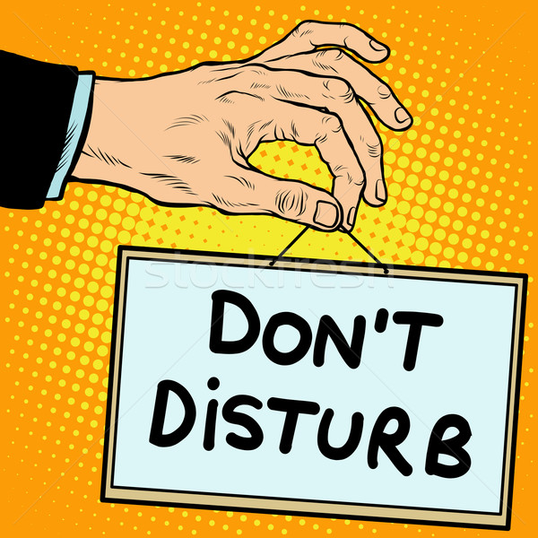 Hand sign do not disturb Stock photo © studiostoks