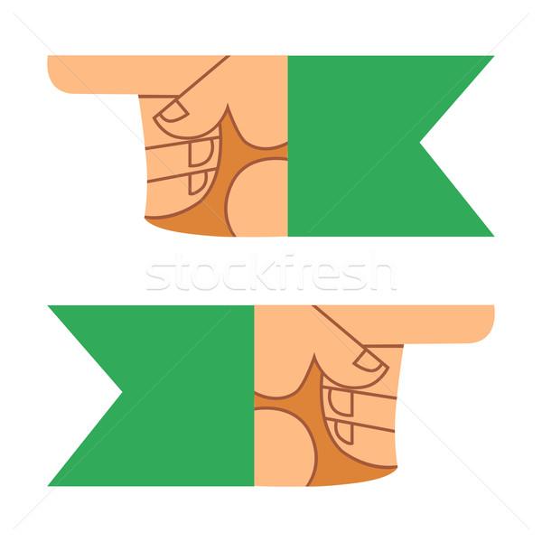Curseur doigt main direction symbole signe Photo stock © studiostoks