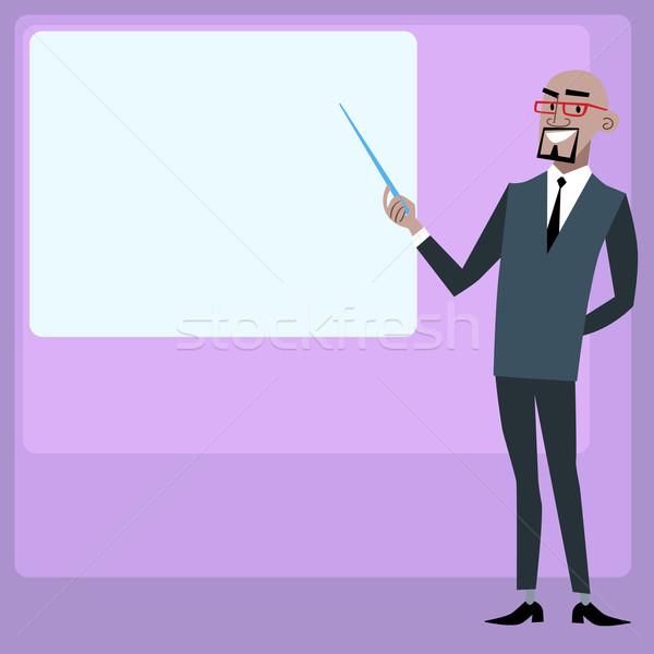 африканских бизнесмен презентация экране менеджера Сток-фото © studiostoks