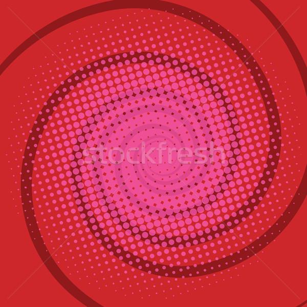 Spiralis vermelho retro arte Foto stock © studiostoks