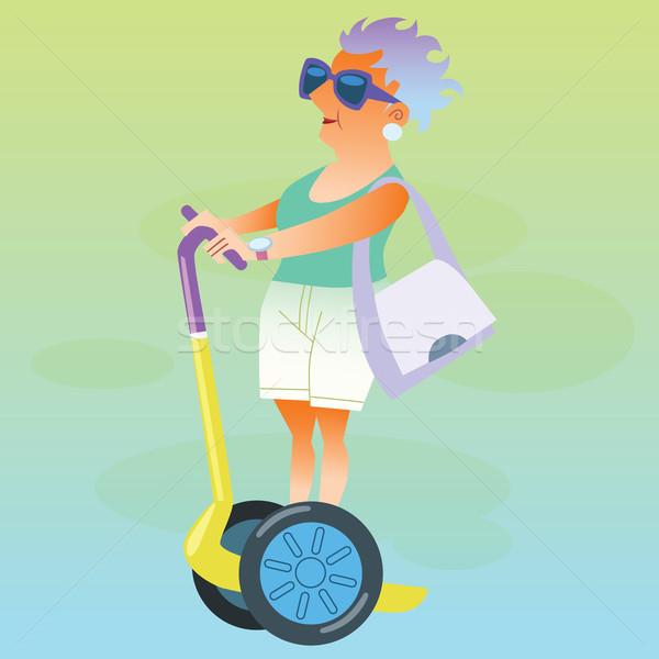 женщины пенсионер отпуск электрических путешествия Сток-фото © studiostoks