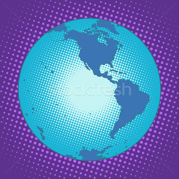 Planet Earth Western hemisphere Stock photo © studiostoks