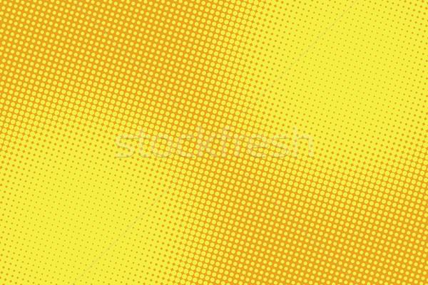 Foto stock: Retro · cômico · amarelo · gradiente · meio-tom