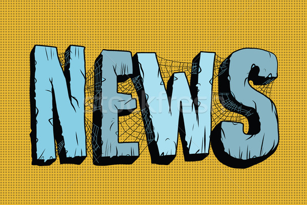 news in the mesh of spider webs Stock photo © studiostoks