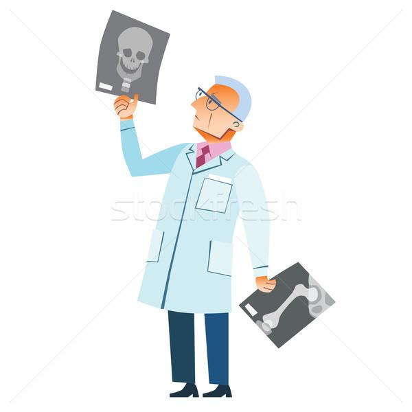 Orthopedische arts Xray breuk schedel geneeskunde Stockfoto © studiostoks