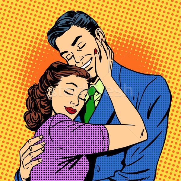 Para miłości mąż żona retro Zdjęcia stock © studiostoks