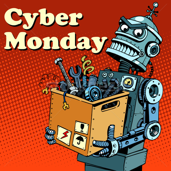 Robot Cyber Monday gadgets and electronics Stock photo © studiostoks