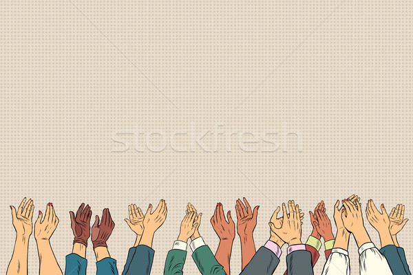 Applause hands up in business conference Stock photo © studiostoks