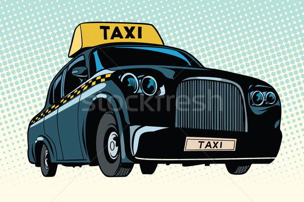 Black taxi with a yellow sign Stock photo © studiostoks
