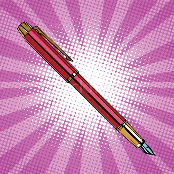 Expensive ink pen business accessory Stock photo © studiostoks
