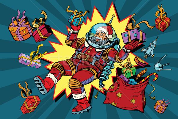 űr mikulás nulla gravitáció karácsony ajándékok Stock fotó © studiostoks