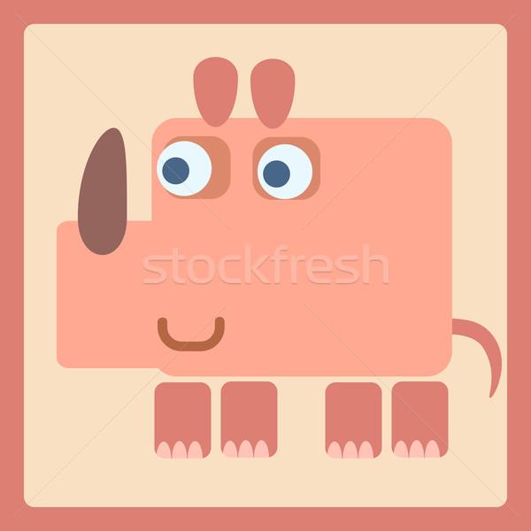 Rhino stylized cartoon icon Stock photo © studiostoks