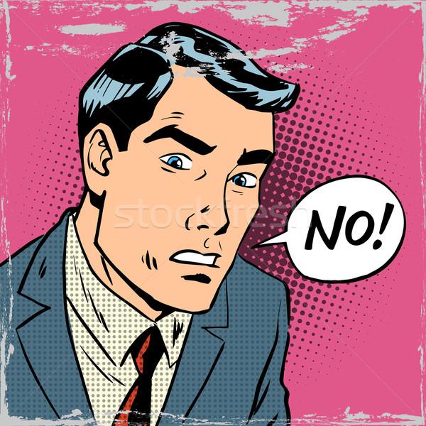 man says no pop art comics retro style Halftone Stock photo © studiostoks