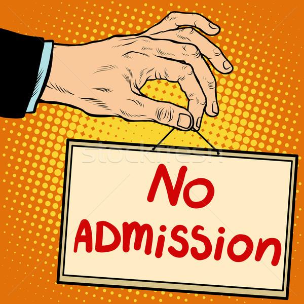 Hand sign no admission Stock photo © studiostoks