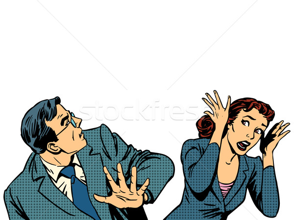 Man and woman running away fear of panic Stock photo © studiostoks