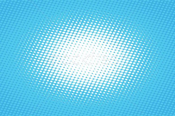 Azul arte pop retro medios tonos efecto fondo Foto stock © studiostoks