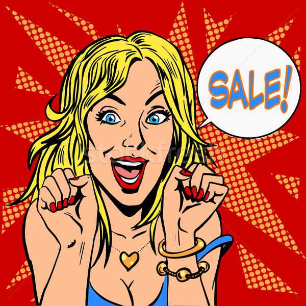 Closeout girl discount sale Stock photo © studiostoks