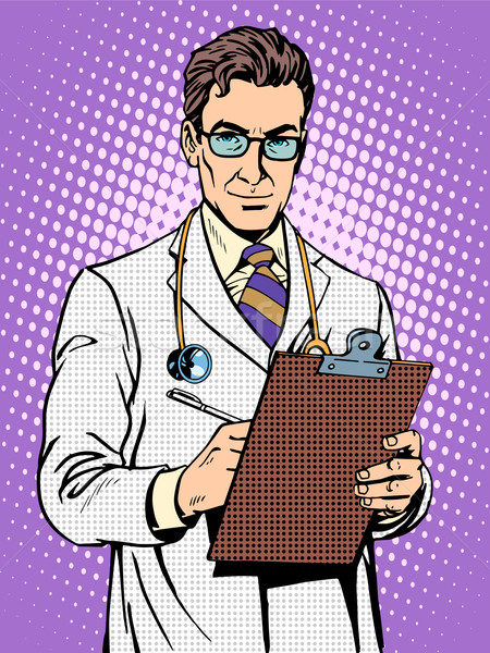 Doctor physician with stethoscope Stock photo © studiostoks
