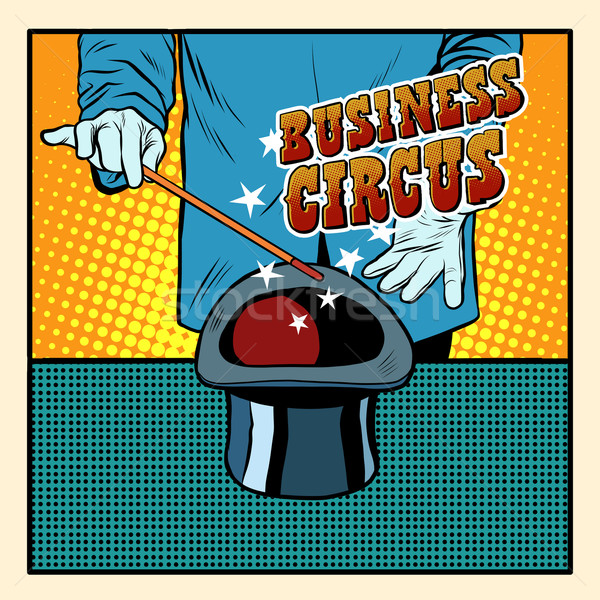 üzlet mágikus kalap cirkusz illuzionista pop art Stock fotó © studiostoks