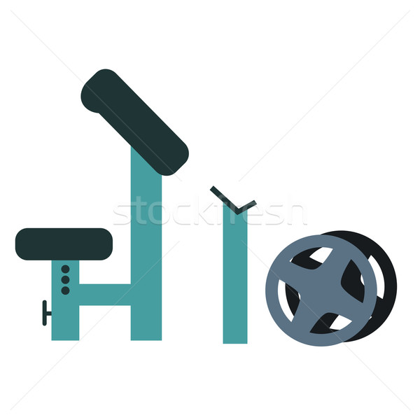 Trainer For Fitness And Weightlifting In The Gym Vector Illustration
