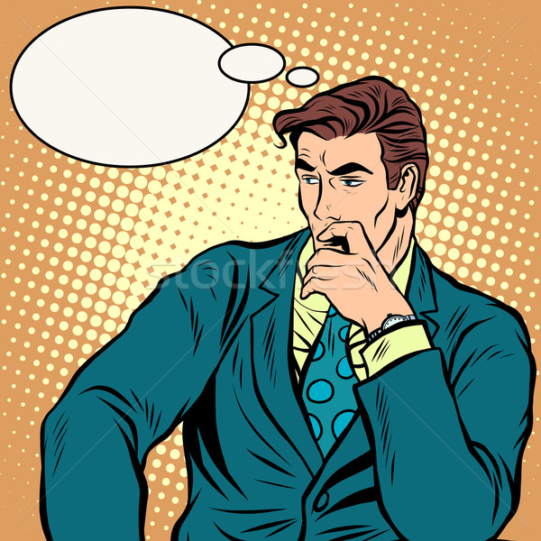 The businessman thinks business vector Stock photo © studiostoks