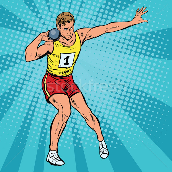選手 スポーツ コア ポップアート レトロスタイル ストックフォト © studiostoks