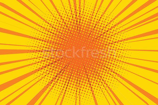 Nap képregény retro pop art művészet narancs Stock fotó © studiostoks