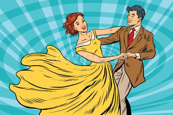 Prom, couple girl and boy dance Stock photo © studiostoks