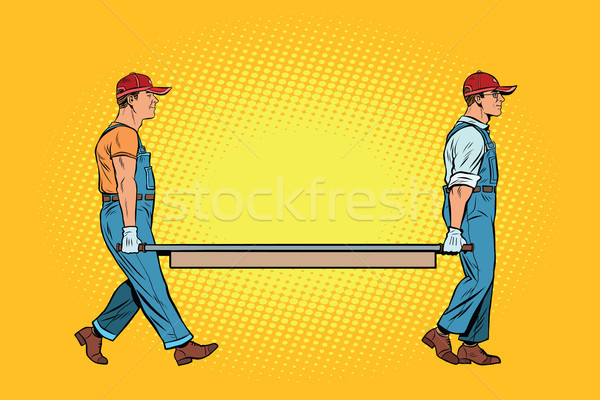 workers with a stretcher Stock photo © studiostoks