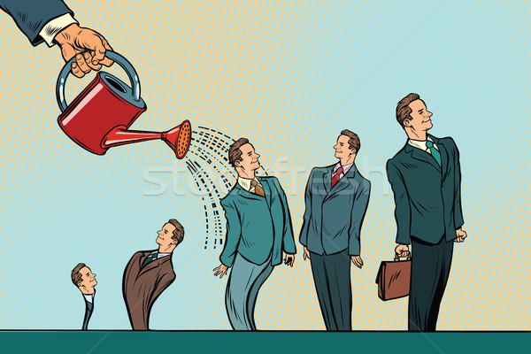 бизнеса запуска стороны бизнесменов лейка Сток-фото © studiostoks