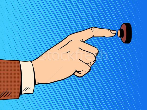hand presses call button view profile Stock photo © studiostoks