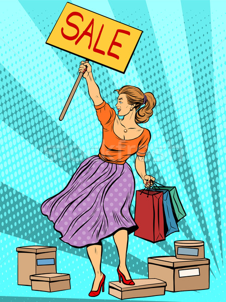 Discount woman sale Stock photo © studiostoks