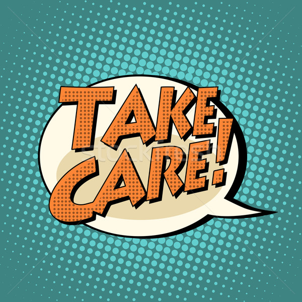 Elvesz törődés képregény buborék szöveg pop art Stock fotó © studiostoks