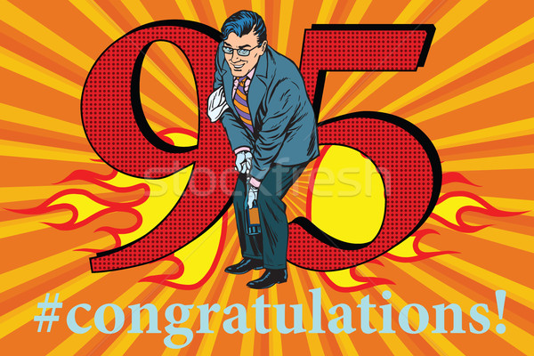Congratulations 95 anniversary event celebration Stock photo © studiostoks