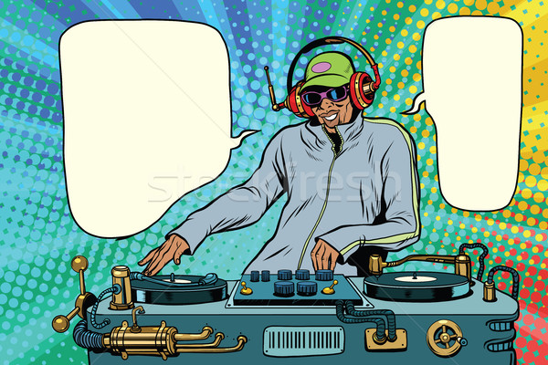 Afrika erkek parti müzik pop art Stok fotoğraf © studiostoks