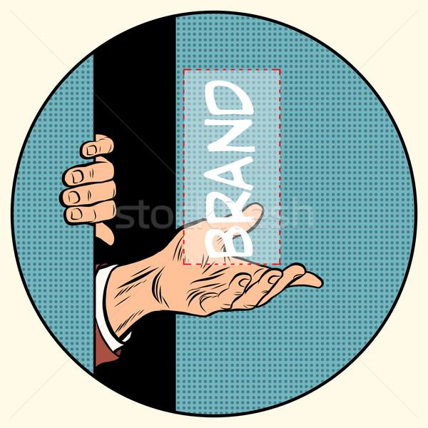 реклама марка здесь Поп-арт ретро-стиле универсальный Сток-фото © studiostoks