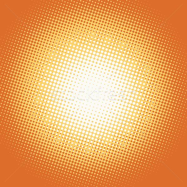 Pomarańczowy pop art retro świetle miejscu sztuki Zdjęcia stock © studiostoks