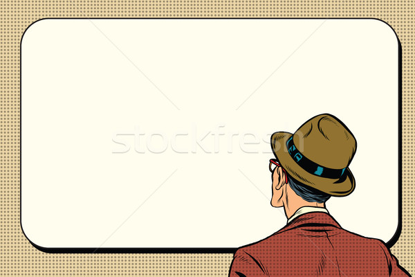 man standing and looking on white background Stock photo © studiostoks