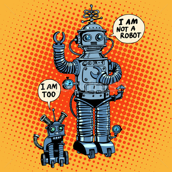 I am not a robot said dog future science fiction Stock photo © studiostoks
