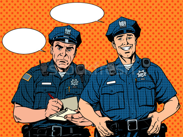 Bad good COP police Stock photo © studiostoks