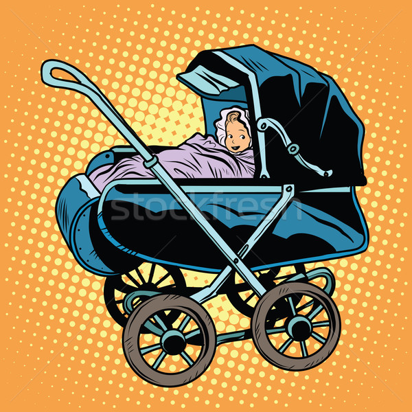 baby nursery retro stroller Stock photo © studiostoks