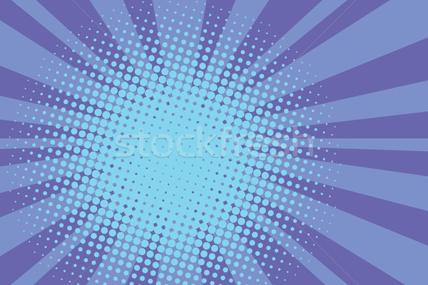 Blue rays retro comic pop art background Stock photo © studiostoks