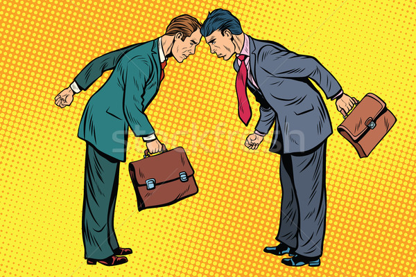 Business competition, two businessman in conflict Stock photo © studiostoks