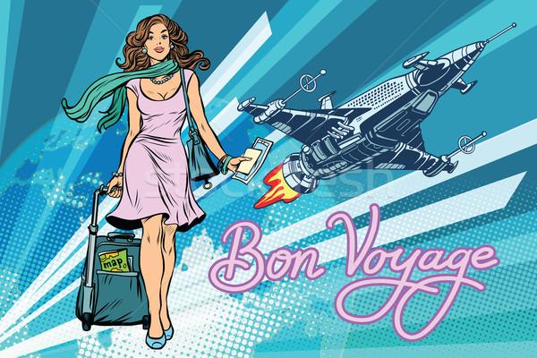 Bon voyage space travel, space tourism Stock photo © studiostoks