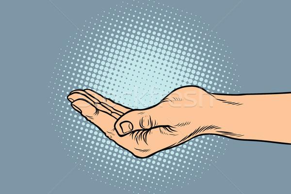 hand hand begging gesture Stock photo © studiostoks