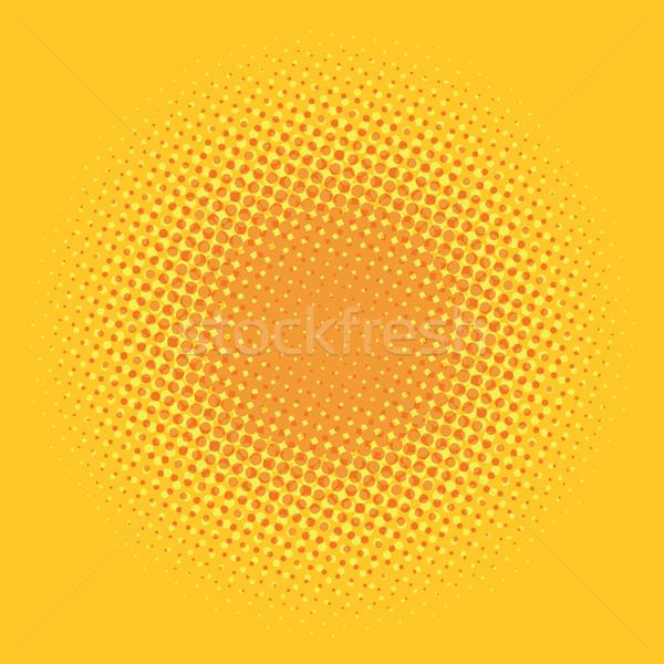 Orange pop art comic background Stock photo © studiostoks