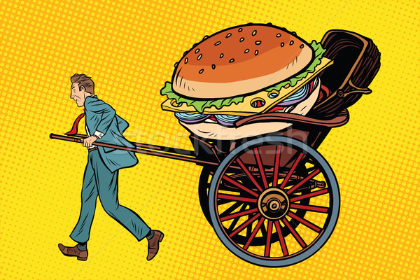 Food delivery, rickshaw and cart Stock photo © studiostoks