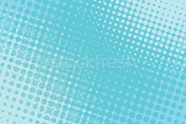 Azul arte pop medios tonos retro textura libro Foto stock © studiostoks