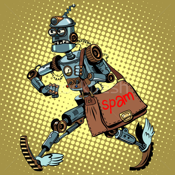 Electronic spam robot postman email Stock photo © studiostoks