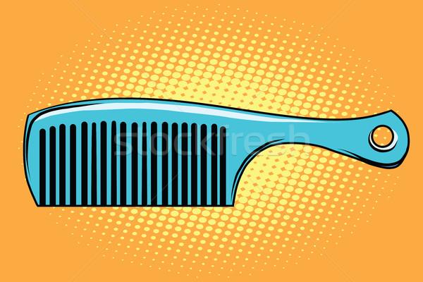 Azul cabelo pente retro negócio Foto stock © studiostoks